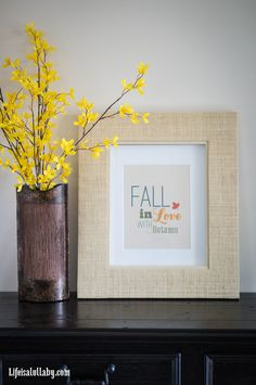 Fall in Love with Autumn Free Printable