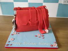 Radley Handbag Cake by CakeWitch Radley Handbags, Radley Bags, 50th Cake, Adult Party Themes, Handbag Cakes, Unique Cakes, Novelty Cakes, Celebration Cakes, Cakes And More