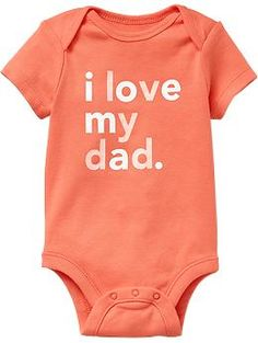 """I Love My..."" Graphic Bodysuits for Baby 