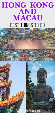 #hongkong #macau #travel | DIY Travel Itinerary to Hong Kong and Macau | Hong Kong and Macau are one of the most visited destinations in Southeast Asia. Hong Kong and Macau is known for its bustling streets and vibrant lights. Hong Kong and Macau both have a colourful colonial history.