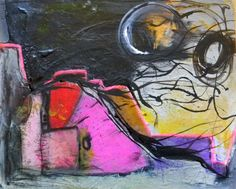 Modern Art  Painting in Acrylics on Heavy by donnamthomestudio, $90.00