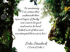 "John Steinbeck, ""East of Eden"" #quote"