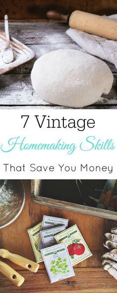 Vintage Homemaking Skills That Save You Money, Frugal Living, Green Living, #frugal #vintage #homemaking