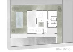 Image 11 of 18 from gallery of La Cañada House / Antonio Altarriba Comes. Photograph by Diego Opazo 2 Storey House Design, Duplex Design, One Bedroom House Plans, House Floor Plans, Minimalist Architecture, Modern Architecture House, Small Villa, Canada House, Casa Patio