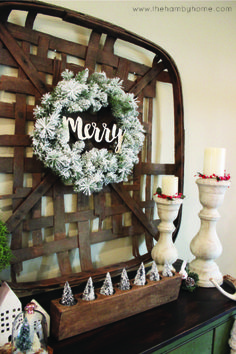 Using your vintage sugar mold with flocked bottle trees