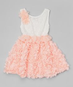 Look at this Pink Lace Rosette Dress - Toddler & Girls on #zulily today!