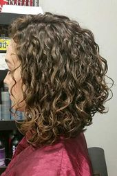 Image result for shoulder length curly inverted bob