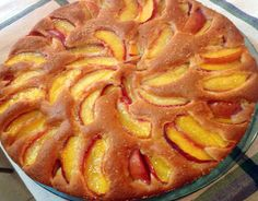 Gâteau-léger-aux-pêches-WW Weigth Watchers, Ww Desserts, Cheesecakes, Apple Pie, Biscuits, Food And Drink, Gluten Free, Healthy Recipes, Fruit