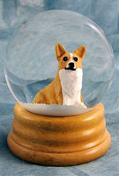 Welsh Corgi Pembroke Dog Musical Water Snow Globe Blonde - You've Got a Friend Tune $99.99 at DogLoverStore.com
