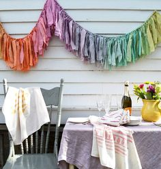 Items similar to Baby Shower Backdrop. Torn Fabric Garland Decor for Baby Shower. Boho Modern Style or CUSTOM color Foot Ribbon Style Banner. on Etsy Wedding Shower Banners, Party Girlande, Warm And Cool Colors, Fabric Garland, Fabric Banners, Fabric Strips, Kindergarten, Backdrops, Crafty