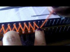 Tear de Pregos Ponto Cruzado Inglês - YouTube Loom Knitting Stitches, Youtube, Weaving, Arts And Crafts, Make It Yourself, Gisele, Craft Ideas, Diy And Crafts, Loom Knitting Patterns