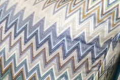The MissoniHome Golden Age zigzags are ready for their closeup!