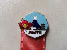 Vintage Japan Fujita Airlines Cloisonne Pin Ribbon Enameled Brass  | eBay