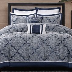 1fdab84d24 Outfit your master suite or guest room in resort-worthy style with this  woven jacquard