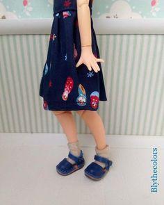 Zapatos de cuero para Blythe por Blythecolors en Etsy