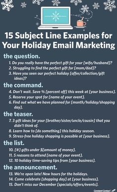 15 Subject Line Examples for Your HOLIDAY Email Marketing Constant Contact.