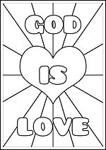 FREE printable Christian Bible colouring pages for kids: God is love // Kids Corner – The Faith Notebook