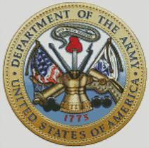 Cross stich Chart Pattern of the US Army Seal