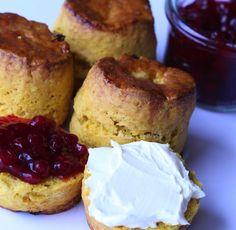 Pumpkin Scones with Spiced Cranberry Jam RecipeTaste by Four Seasons