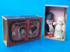 Vintage - ANTIQUE MATCHBOX MINI DOLL BRIDE & GROOM FIGURES - Happy Days | eBay