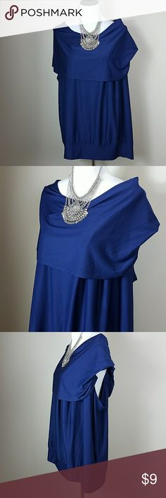 Blue Plus Size Blouse Very cute on.  Great for the office or a night out. Check out my closet for other items that you may like to pair with this. Entretien AU Tops Blouses