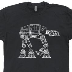 bc165a08 At-At AtAt Star Wars T Shirts The Empire Strikes Yoda Chewbacca Back  Technical Drawing Jedi Tee Mens Womens Kids Shirtmandude: At-At Star Wars T  Shirt