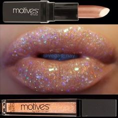 #Motives Cosmetics Mineral #LipStick in 24K  and Mineral #LipShine in Glam   Get the look Shop.com/taracataldo