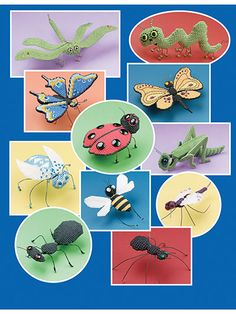 Make some bugs using Plastic Canvas. Plastic Canvas patterns for 11 bugs to make using plastic canvas (aff link)