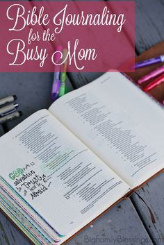 Bible Verse About Strength:How can Bible Journaling fit in your life when you are a busy Mom? Today I'm going to share how you can easily add Bible journaling to your worship as a busy Mom. Bible Study Tips, Bible Study Journal, Bible Lessons, Art Journaling, Bible Verses About Strength, Encouraging Bible Verses, Scriptures, Bible College, Bible Notes