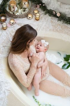 Baby Milk Bath, Bath Pictures, Milk Bath Photography, Maternity Photographer, Las Vegas, Elegant, Children, Lace, Classy