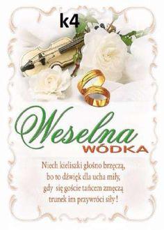 etykiety naklejki weselne klasyczne wódke bimber butelke nr1 Rynarcice - image 4