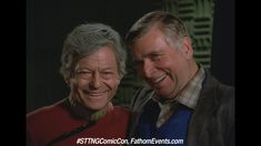 De Kelley with Gene Roddenberry.