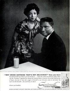 Ossie Davis and Ruby Dee in a 1960 advertisement for Smirnoff Vodka.