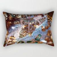 Tardis Battle Rectangular Pillow