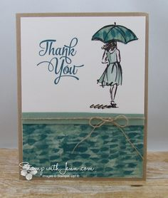 Beautiful You is a new stamp set that is coming out in the Stampin' Up! Occasions Catalogue starting in January … Umbrella Cards, Umbrella Girl, Free Cards, Stamping Up Cards, Get Well Cards, Card Sketches, Kids Cards, Greeting Cards Handmade, Homemade Cards