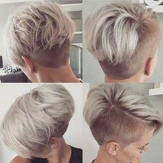 Kurze Frisuren sind im Jahr 2019 sehr beliebt. Frauen im Allgemeinen und Asche kurze Frisuren. Es gibt also viele Frisuren, aber wir wählen neue kurze. Edgy Short Hair, Short Hair Undercut, Edgy Hair, Undercut Hairstyles, Short Hair Cuts, Cool Hairstyles, Shaved Hairstyles, Pixie Cuts, Pixie Hairstyles