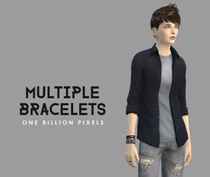 My Sims 4 Blog: Multiple Bracelets and Male Sim by NewOne