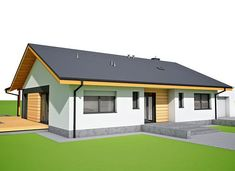 Mini 4 w. II G1 energo - zdjęcie 2 Architectural House Plans, Gazebo, Shed, Outdoor Structures, Mansions, House Styles, Outdoor Decor, Home Decor, Cooking