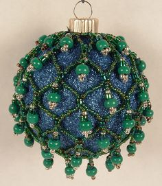 Christmas Ball Ornaments to Make | learned how to make these from that wonderful magazine Bead & Button ...