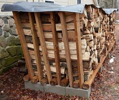 Incredible Firewood Storage Can Become A Focal Point In – HomeGardenMagz Outdoor Firewood Rack, Firewood Holder, Firewood Shed, Firewood Storage, Outdoor Storage, Outdoor Projects, Garden Projects, Wood Projects, Stacking Firewood