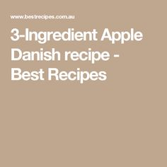 3-Ingredient Apple Danish recipe - Best Recipes
