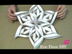 Vero Vi 💋 COPOS DE NIEVE 3D de papel 💜 - YouTube