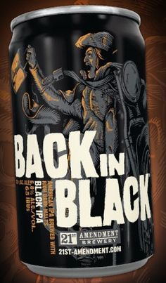 Brewed like an American IPA but with the addition of rich, dark malts, this beer has all the flavor and hop character you expect with a smooth, mellow finish. Beer Packaging, Beverage Packaging, 21st Amendment, Black Ipa, American Ipa, Beer Bucket, Best Beer, Back To Black, Craft Beer