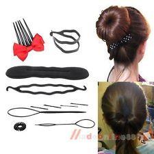DIY Hair Styling Style Magic Hair Sponge Tool Clip Maker Bun Foam Twist Roller