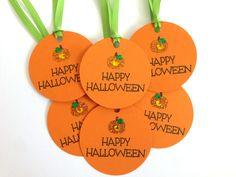 Halloween Tags  Pumpkin Tags  Happy Halloween by MyPrettyPaper