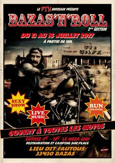 BAZAS'N'ROLL, LIVE MUSIC, MOTOS, CAFE RACER