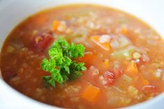 Do your kids love soup as much as mine do? This is the best lentil soup recipe loaded with veggies and nutrients and it's one of my all time favourites. Fun Easy Recipes, Light Recipes, Easy Meals, Best Lentil Soup Recipe, Easy Cooking, Cooking Recipes, Homemade Soup, Soup And Sandwich, Healthy Soup