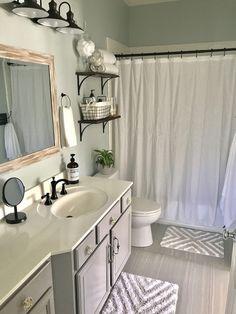 Sea salt? Paint color, cabinet size, flooring #homeownerdecor