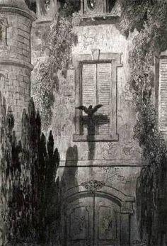 """""""Il corvo"""" di Edgar Allan Poe nelle magnifiche illustrazioni di Gustave Doré #illustrations"""