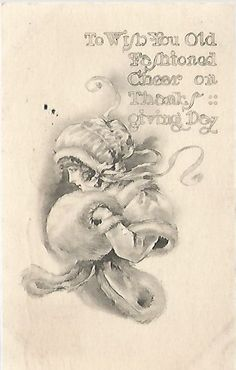 Antique Postcard Thanksgiving Greeting  by postcardsintheattic, $5.99 New Listing: #postcard #ephemera #antique #vintage #vintagepaper #etsy #antiquepaper #collectible #antiquepostcard #vintagepostcard